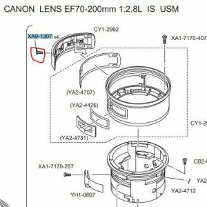 CANON EF 70-200 mm 2.8 L IS USM 4 SCREW SWITCH PANEL CROSS XA9-1307 PART TEIL