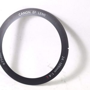 CANON EF 24-105 mm F4 IS L USM FRONT NAME RING PLATE PART YB2-0895-000 REPAIR